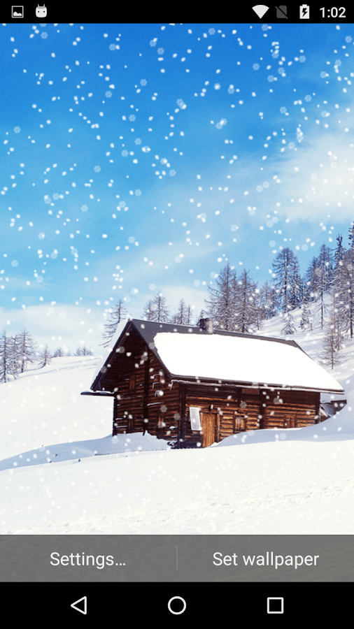 snow fall live wallpaper android apps on google play