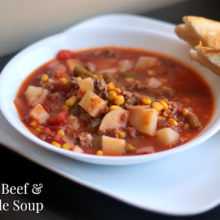 Ground Beef & Vegetable Soup.