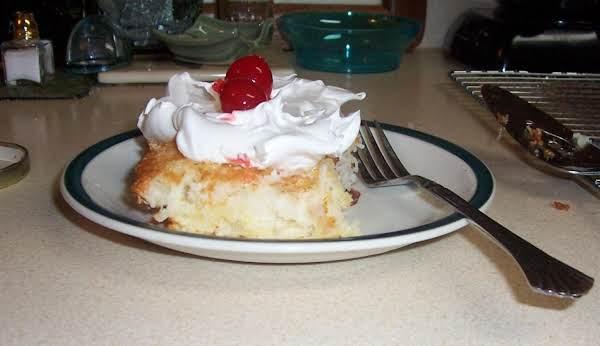 Pineapple Cake (2 Ingred) Recipe