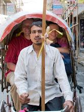 Photo: Wir erfüllen uns den Traum und fahren Riksha.