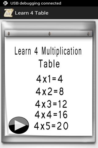 乗算表4をご覧ください