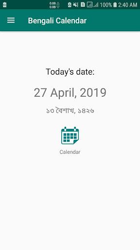 Bengali Calendar - English App Report on Mobile Action - App