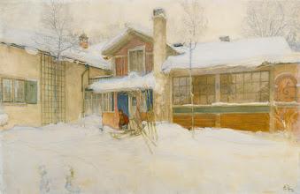 """Photo: Carl Larsson, """"La mia casa di campagna in inverno a Sundborn"""" (1904)"""