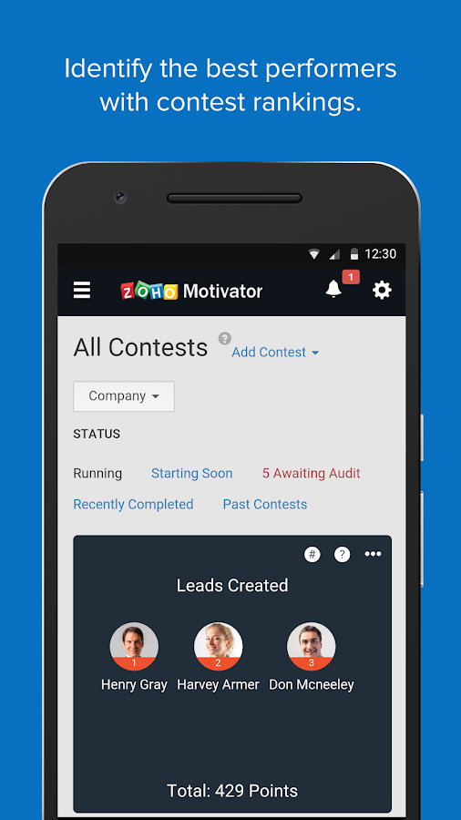 Zoho Motivator- screenshot