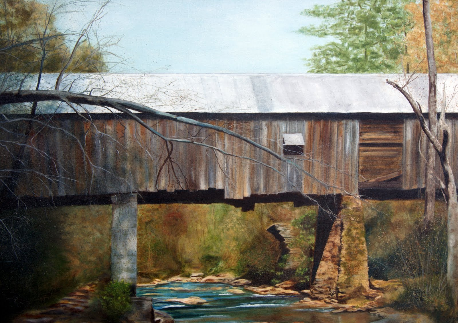 Photo: Concord Covered Bridge in Smyrna, Cobb Co. Georgia.