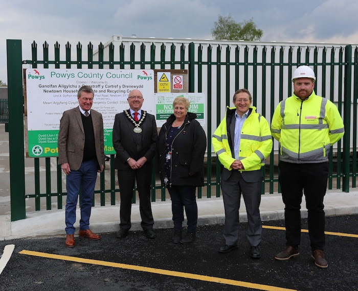 New recycling centre is opened in Newtown