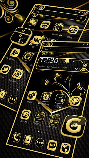 Decent Black Golden Theme for PC
