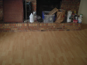 Photo: under cut fire place for laminate flooring install