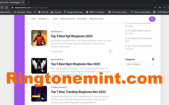 Kgf Ringtones Downlaod mp3 for mobile