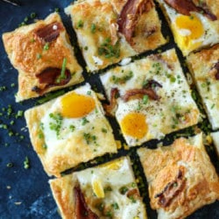 Puff Pastry Breakfast Pizza.