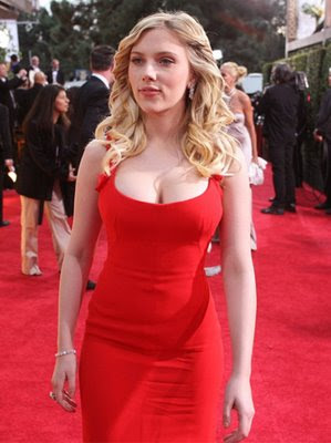Scarlett Johansson in red, Scarlett Johansson at red carpet