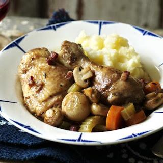 Slow Cooker Coq Au Vin.
