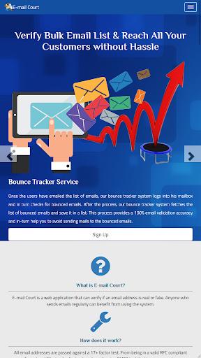 E-Mail Court – Validate Email Bulk Checker Tool screenshot 2
