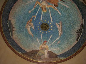 Photo: Chapel ceiling at the American Cemetery