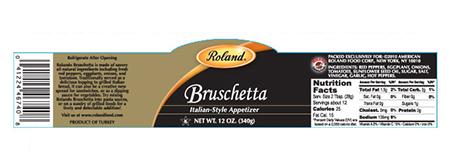 Label, Roland brand Bruschetta 12 oz.