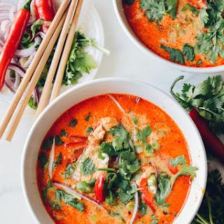 15 Minute Coconut Curry Noodle Soup.