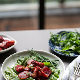 Pickled Strawberry + Beet Salad With An Herbed Vinaigrette