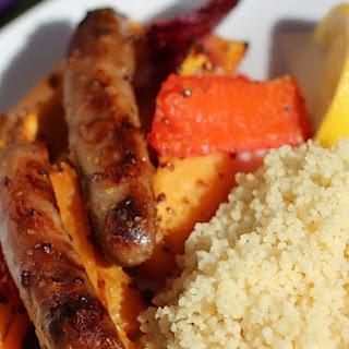 Maple-Glazed Sausage and Veg Traybake