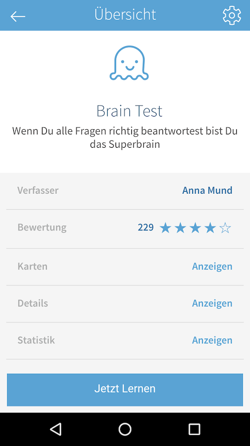 card2brain Lernkarten – Screenshot