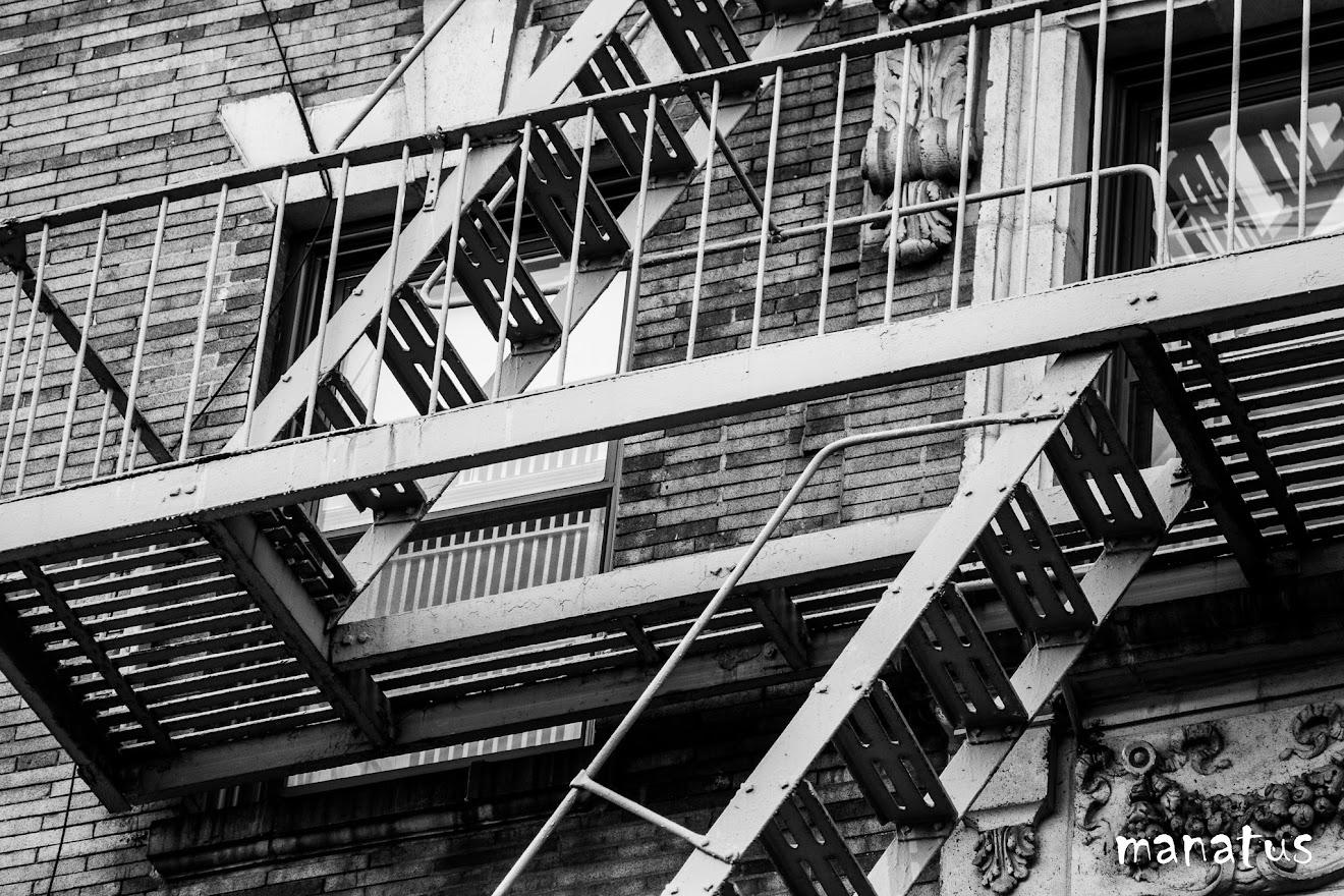 detalle de escalera anti incendios de nueva york