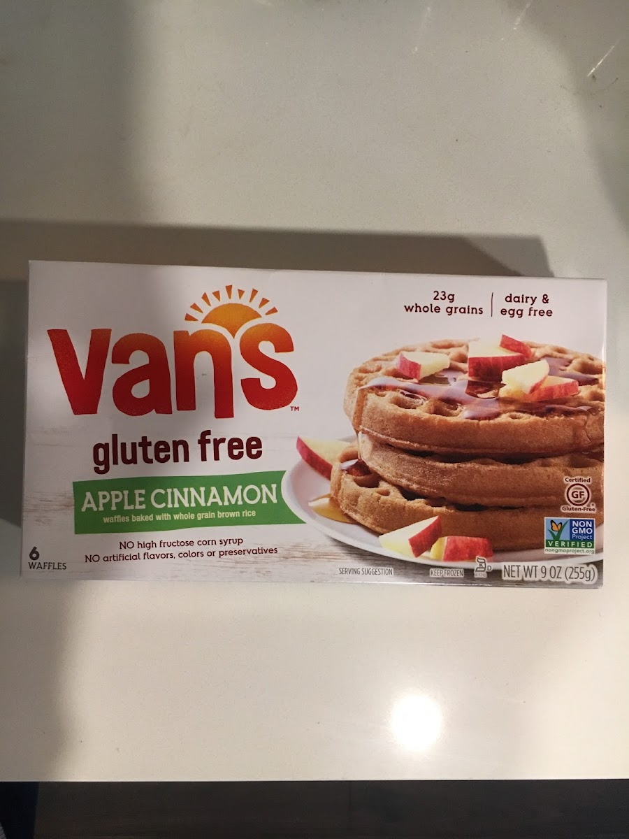 Gluten Free Waffles, Apple, Cinnamon
