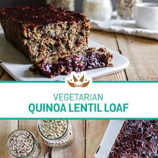 Vegetarian Quinoa Lentil Harvest Loaf.