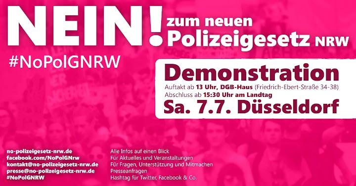 Plakat: «Nein! zum neuen Polizeigesetz NRW»