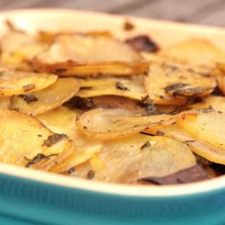Potato and Mushroom Gratin [Vegan].