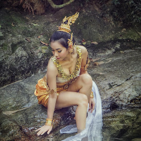 thai traditional  by JO Leong - People Portraits of Women