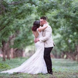 Forest love by Junita Stroh - Wedding Bride & Groom