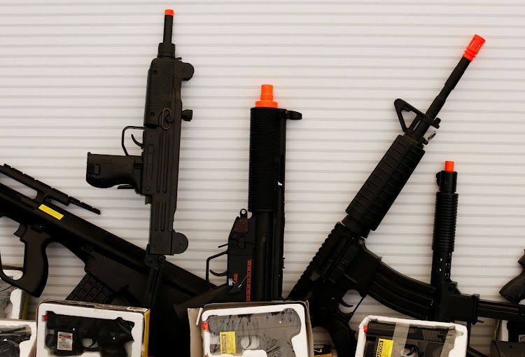 Alarmingly realistic toy guns. Picture: REUTERS
