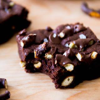 Triple Chocolate Pretzel Brownies