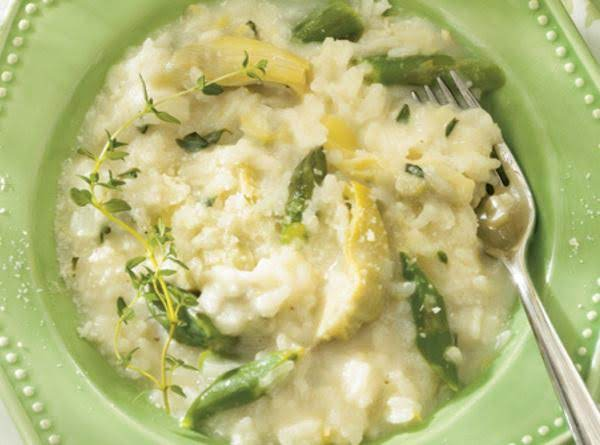 Artichoke And Asparagus Risotto