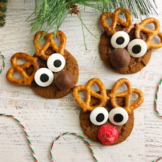 Gingerbread Reindeer Cookies.