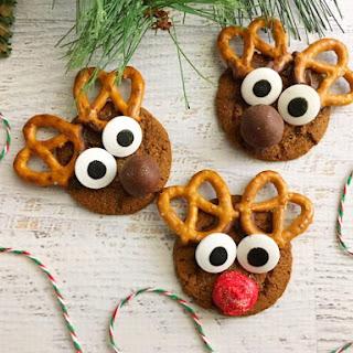 Gingerbread Reindeer Cookies.