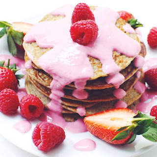 Healthy Pancakes With Raspberry Fluff