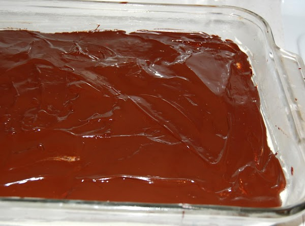 Top Layer Melt chocolate and butter in sauce pan on low heat/ or double boiler....