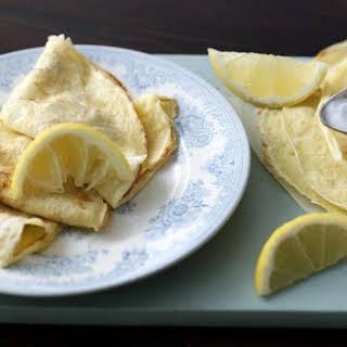 Basic Pancakes With Sugar And Lemon.