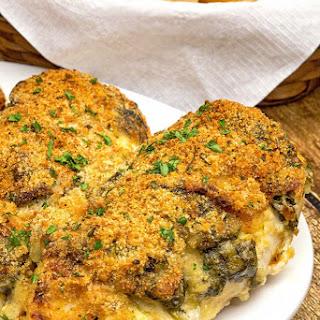 Spinach and Mozzarella Stuffed Chicken.