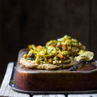 Spiced Veggie Naan Pizzas