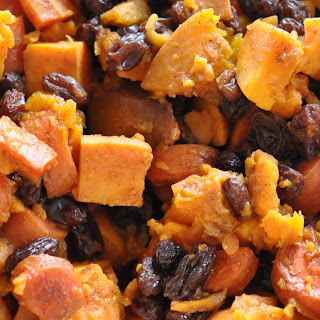 Carrot, Squash, and Sweet Potatoes With Cinnamon and Raisins
