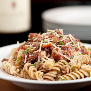 Chunky Pasta Bolognese with Sausage