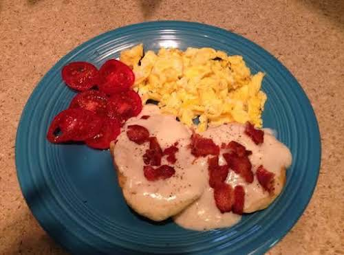 """Bacon Breakfast Gravy """"My Mother made this for breakfast often. What a..."""