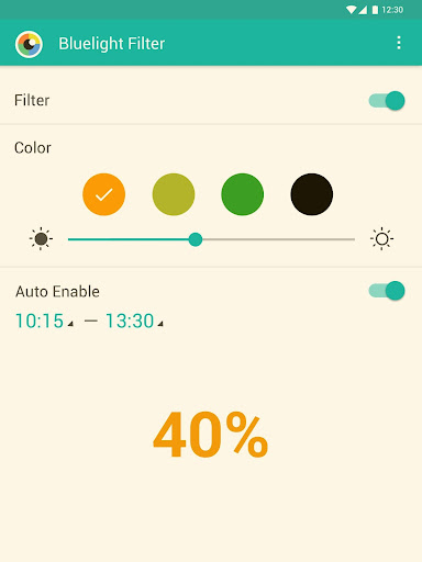 Bluelight Filter - Night Mode, Eye Care - screenshot