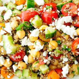 Quinoa, Chickpea, Cucumber and Feta Salad