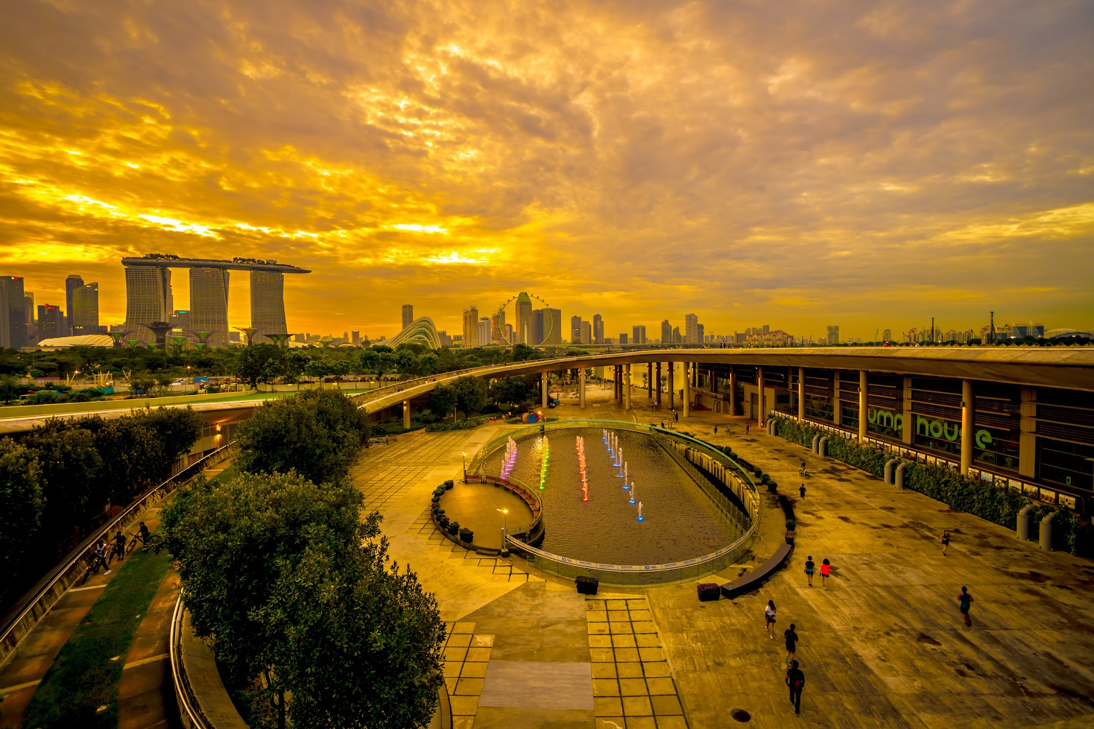 Singapore Marina Barrage evening4