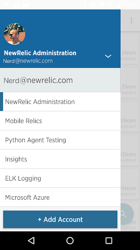 New Relic Android app 2.9.12 screenshots 2