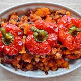 Moroccan Vegetable Stuffed Peppers GF SCD