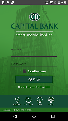 Capital Bank Mobile Banking Screenshot