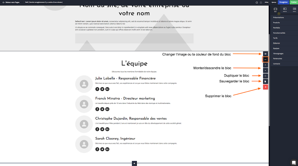 Personnaliser ma page web avec les blocs